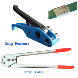 strap sealer and strap tensioner